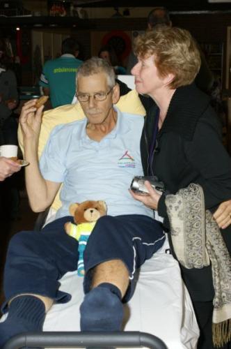 Sponsor 'Stichting Ambulance Wens' tijdens de Nijmeegse Vierdaagse