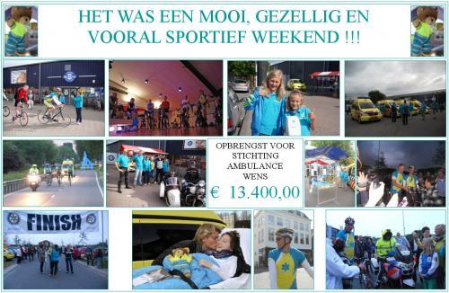Succesvol (fiets)weekend voor Stichting Ambulance Wens