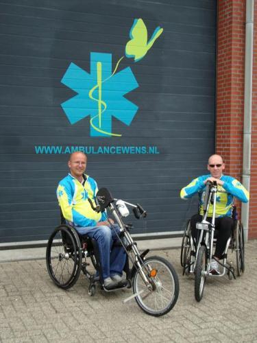 Handbike Sponsor tocht 2011